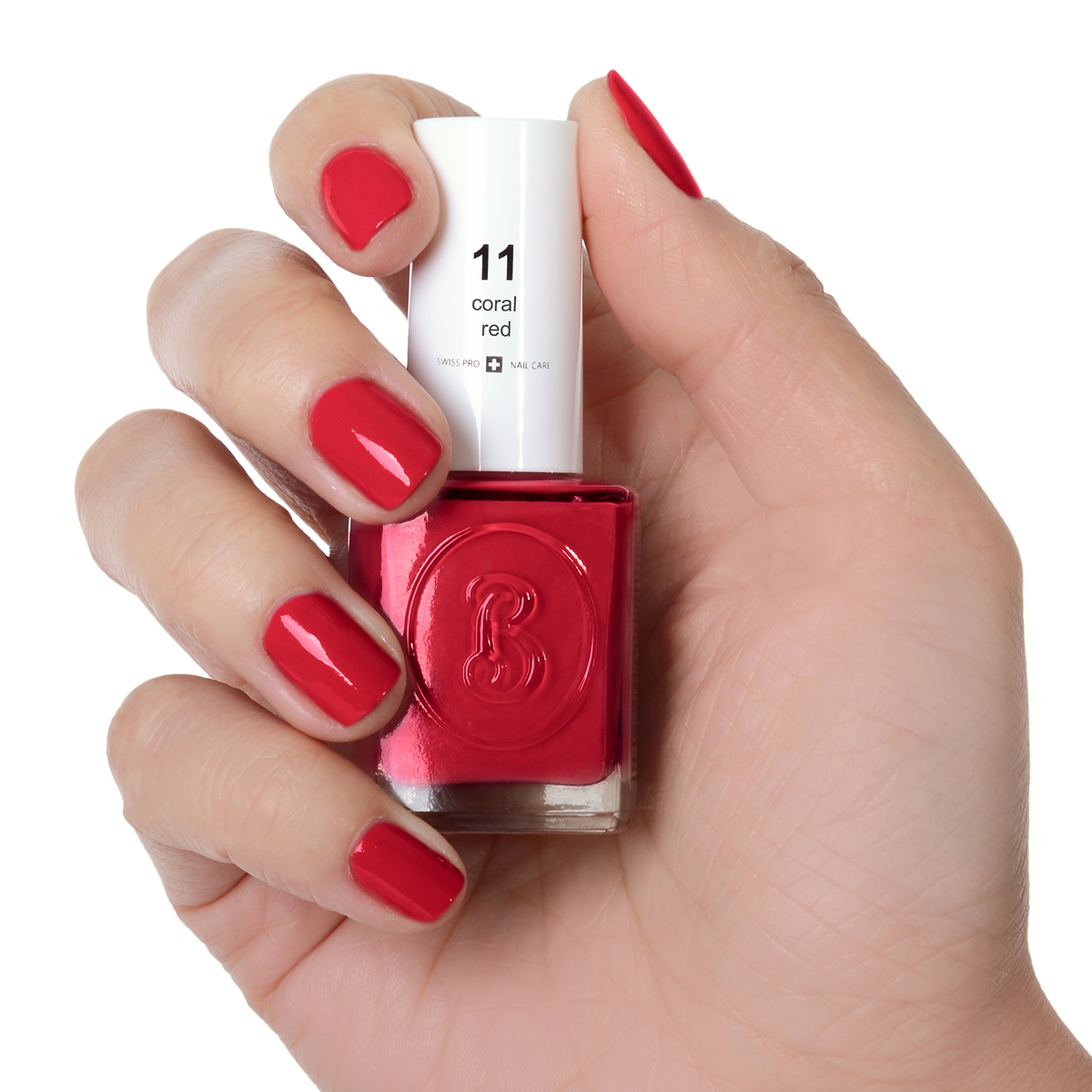 Berenice Oxygen Nail Polish / 11 coral red