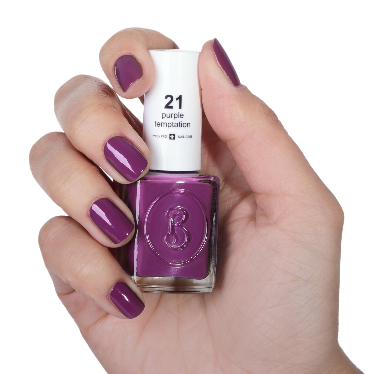 Berenice Oxygen Nail Polish / 21 purple temptation